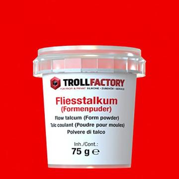 TrollFactory Fliesstalkum für Formen - Talkum Puder (Metallguss) 75g ✪