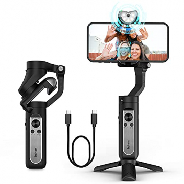 Hohem iSteady V2 3-Achsen Gimbal stabilisator für Smartphone mit KI Visual Tracking Type-C Reverse Charging ✪